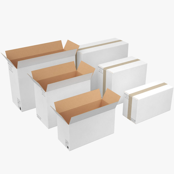 3D boxes white model