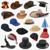 Hats 3D Models Collection 4