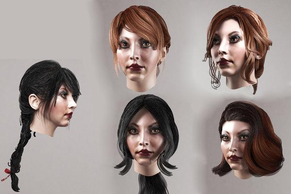 girl hair 5 hairstyles model