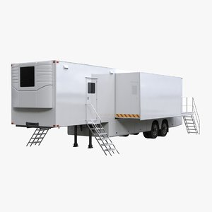 exhibition semi trailer 3D