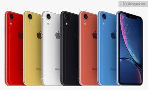 iphone xr colours 3D model