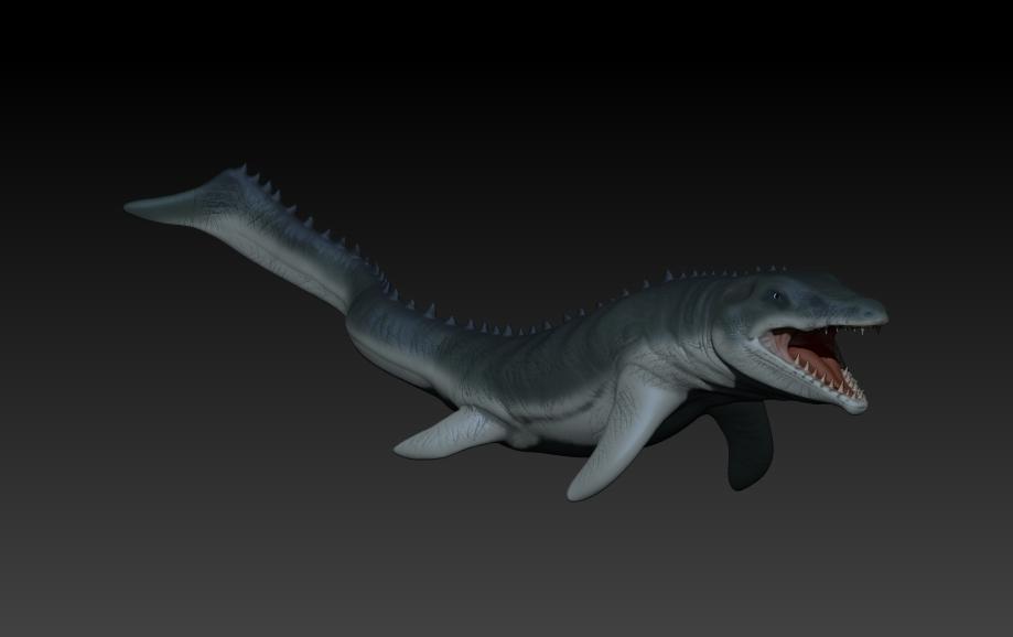 mosasaurio printing 3D
