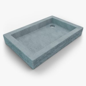 concrete sink 3D