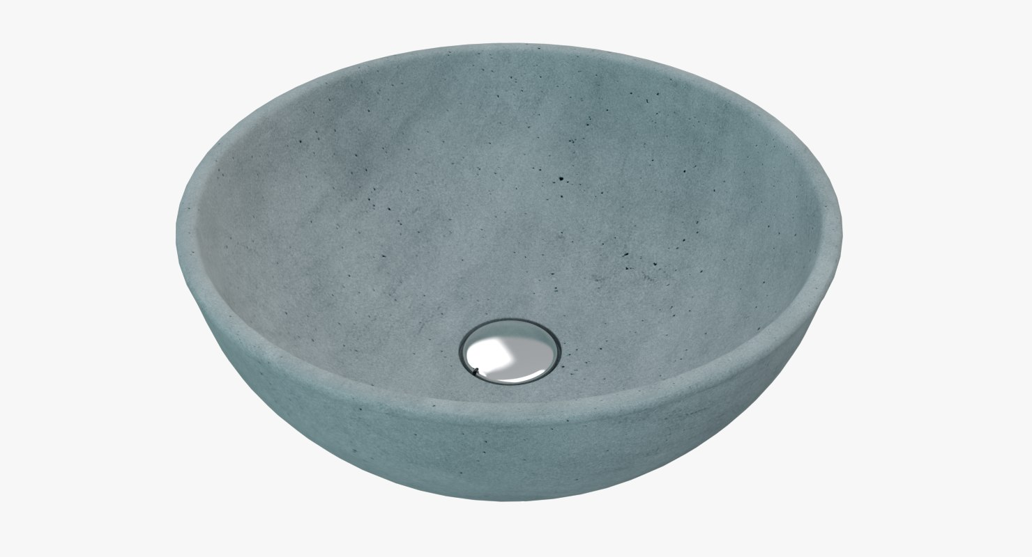 3D model concrete sink