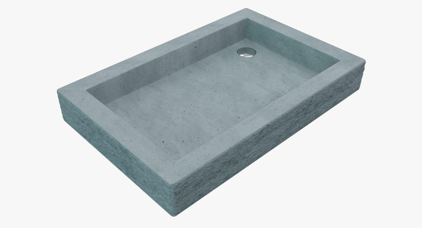 concrete sink 3D