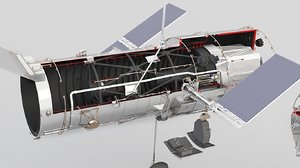 3D model hubble telescope scope