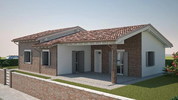 3D classic italian villa