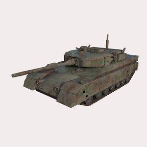 3D model tank abandoned