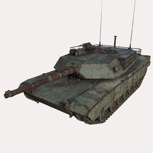tank abandoned 3D model