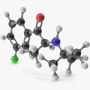 bupropion molecular 3D model