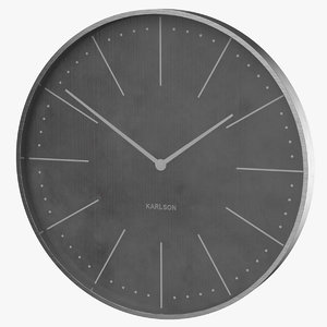 3D model clock wall karlson