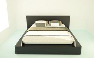 3D bed black model