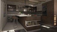 3D modern kitchen model
