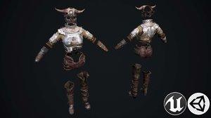 3D model female set 2