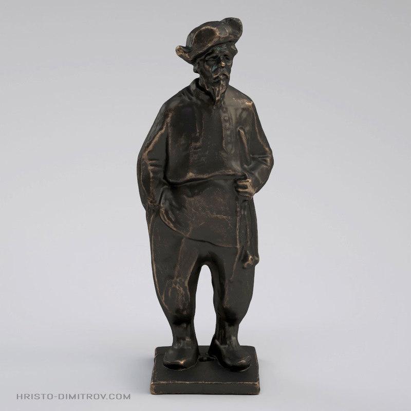 scan slavic grandpa statue 3D model