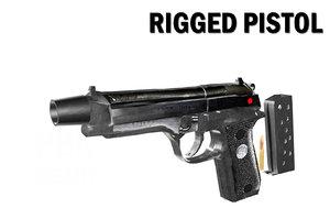 3D rigged pistol model