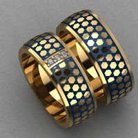 enamel diamonds ring 3D model