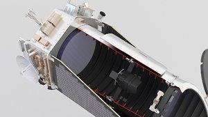 3D telescope scope kepler model