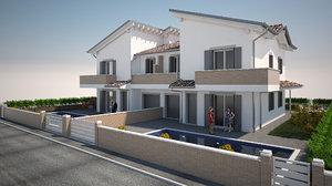 villa pool model
