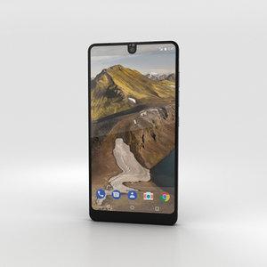 3D essential phone black