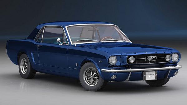 mustang gt 1965 car model