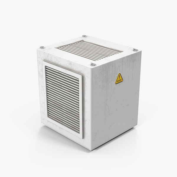 3D industrial rooftop ac unit