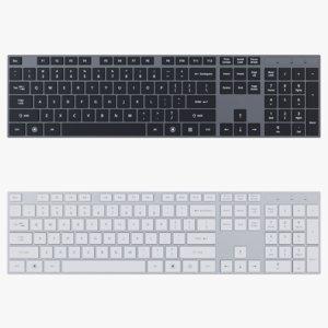 3D slim computer keyboard - model