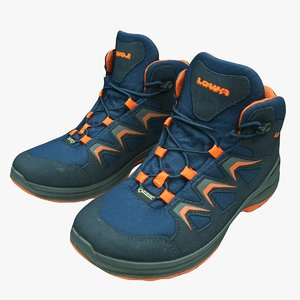 kids trekking shoes lowa 3D model