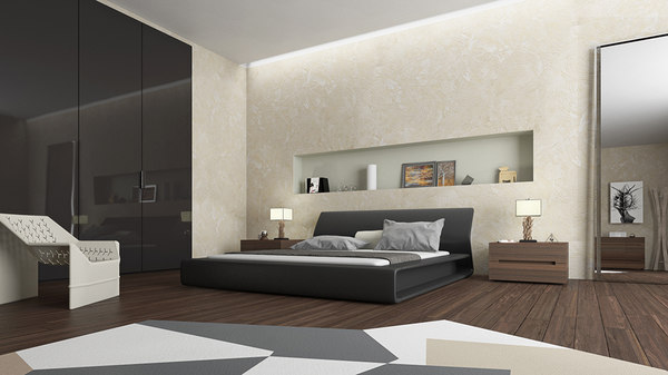 interior molteni bedroom 3D