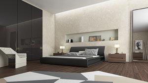 interior molteni bedroom 3D