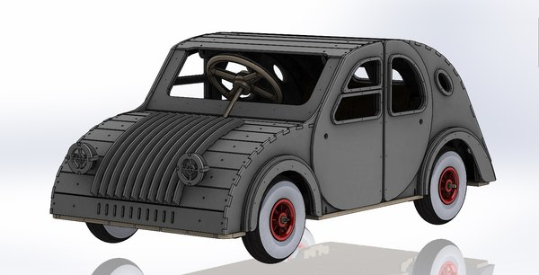 tot rod car inspired 3D model