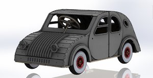 tot rod car inspired 3D model