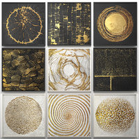 Collection of paintings with gold for walls