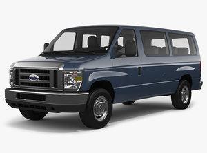 e-series e-350 passenger van 3D