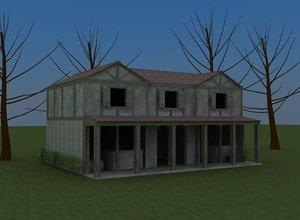 old roman house 3D model