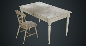 3D table chair 2c