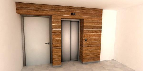 design elevator faade 3D model