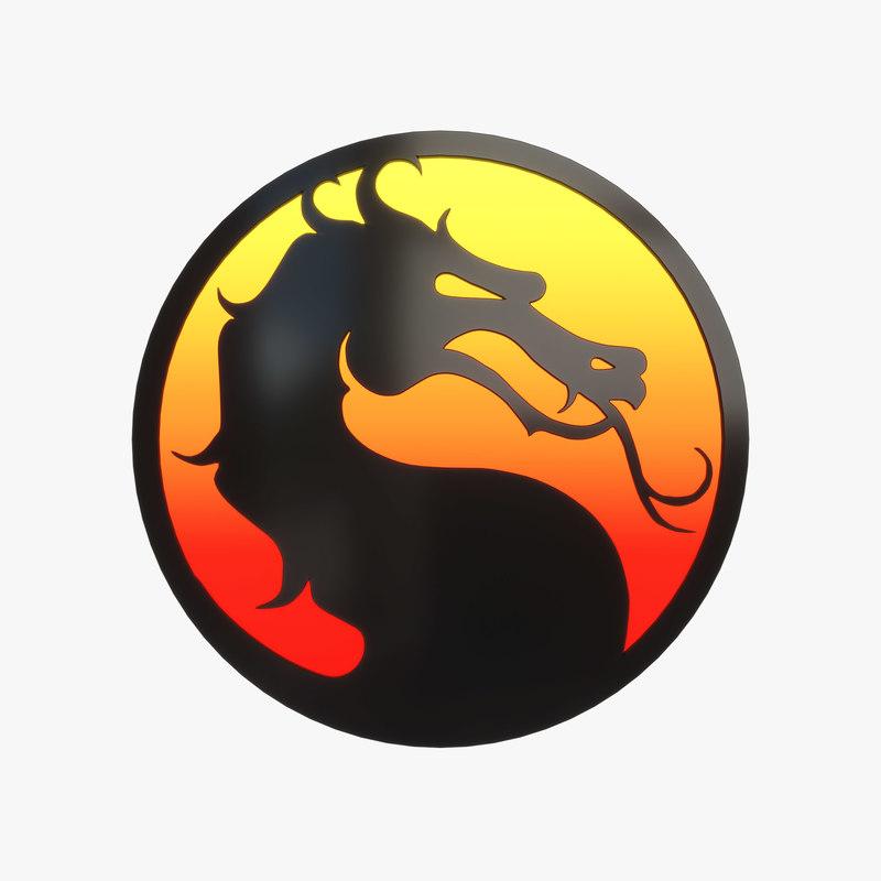Mortal kombat logo 3D - TurboSquid 1381501
