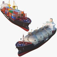 Tanker And Shipping Container Ships