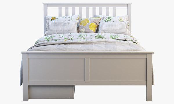 Ikea Hemnes Bed 4 3d Turbosquid 1381545