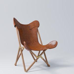 3D tripolina folding chair