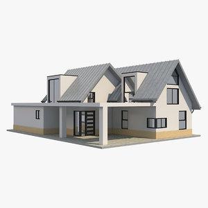 modern barn house 3 model