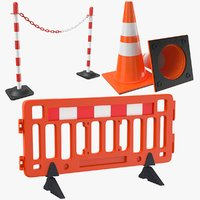 3D road barrier model