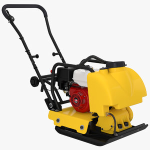plate compactor engine 3D