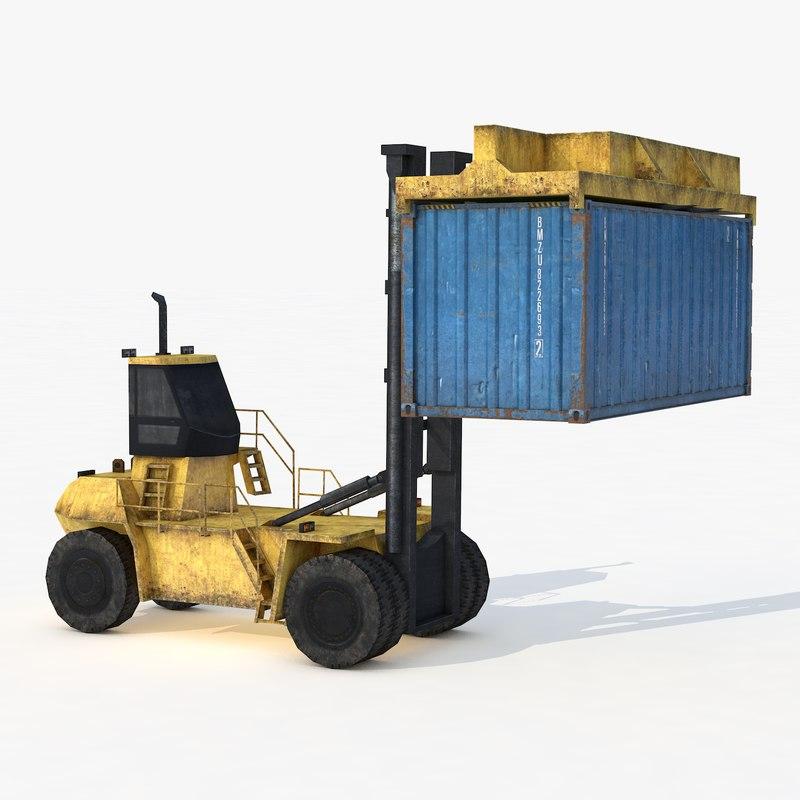 3D reach stacker industrial model
