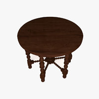 wooden table 3ds