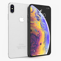 3D apple iphone xs silver