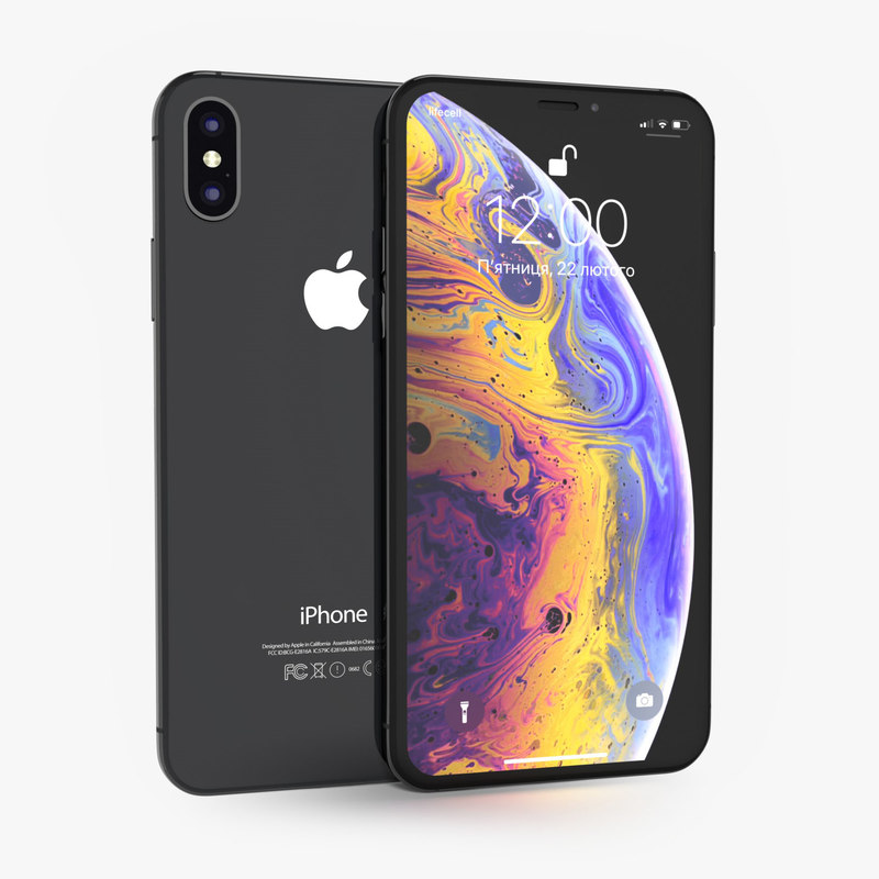 3D apple iphone xs space model