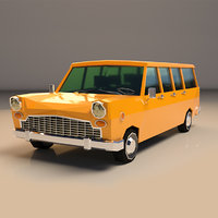 Low Poly Station Wagon