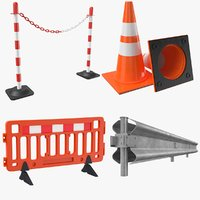 Four Road Barriers Collection